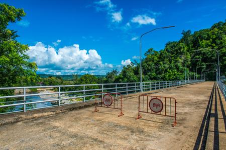 hydroelectric station: Concrete road on Kiew Lom dam, Thailand