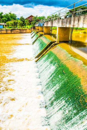 Weir at Lampang province, Thailand.