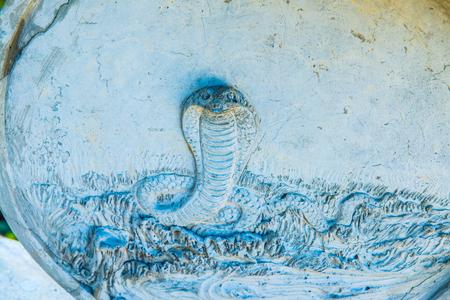 Snake molding art, Thailand.