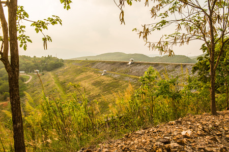 View of Mae Ngat Somboon Chon dam, Thailand.