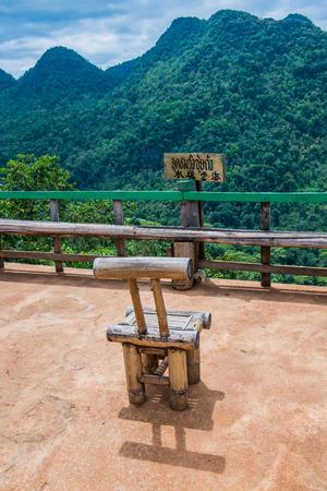 Sui Thang viewpoint at Angkhang mountain, Thailand. Stock Photo