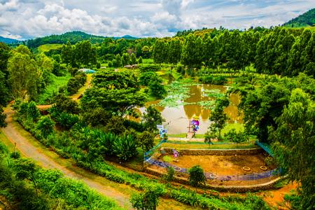 Beautiful Natural View at Chiang Rai Province, Thailand. Stock Photo