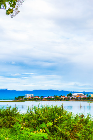 beside: The city beside Kwan Phayao lake, Thailand
