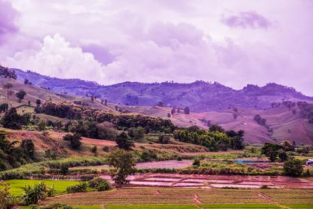 wonderful thailand: Beautiful Natural View at Chiang Rai Province, Thailand. Stock Photo