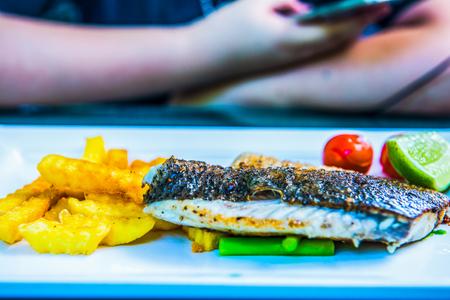 grill: Fish steak, Thailand.