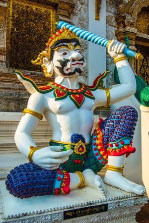 Thai style giant at Ban Den temple, Thailand.