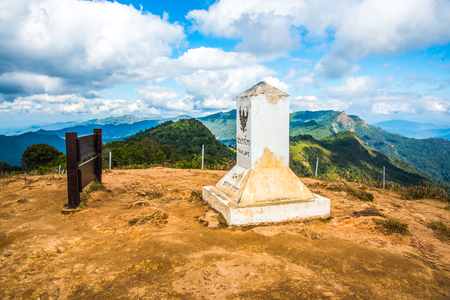 milestones: Milestone on Phu Chi Fa, Thailand.