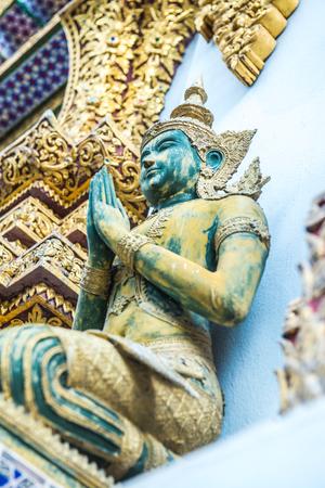 Thai angel statue, Thailand. Stock Photo