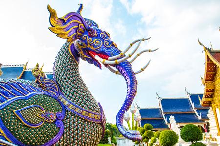 Himmapan creature at Ban Den temple, Thailand.