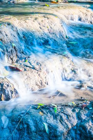 Water flowing at Tan Tong waterfall, Thailand.