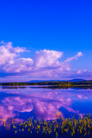 tam: Landscape view of Mae Tam reservoir, Thailand.