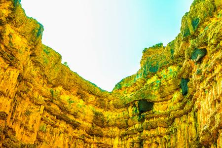 wonderful thailand: Pha Chau at Mae Wong national park in Thai, Thailand. Stock Photo