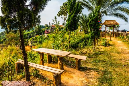 Landscape view on mountain, Thailand. Stock Photo