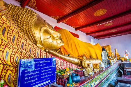 Golden Reclining Buddha, Thailand.