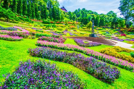 Landscape of Mae Fah Luang Garden, Thailand.