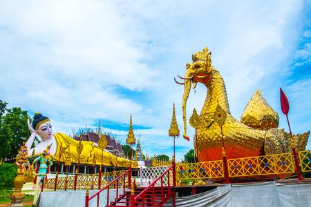 Landscape view at Phra That Suthon Mongkhon Khiri temple, Thailand.