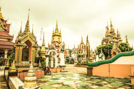 Beautiful Building at Huai Sai Khao Temple, Thailand.