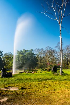 vapore acqueo: Sankamphaeng hot spring in Chiangmai province, Thailand.