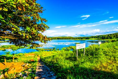 Landscape View of Mae Puem Reservoir, Thailand.