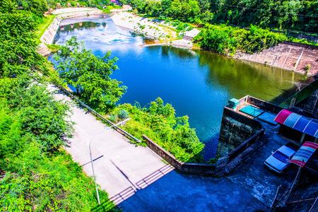 hydroelectric station: Landscape view of Kiew Lom dam, Thailand.
