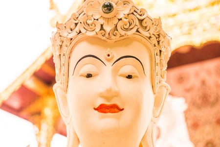 Beautiful molding art in Darabhirom Forest Monastery at Chiangmai Province, Thailand. Stock Photo