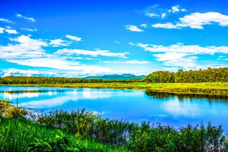 mirror: Landscape View of Mae Puem Reservoir, Thailand.
