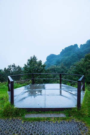 chiangmai province: View point on Doi Inthanon national park, Thailand. Stock Photo