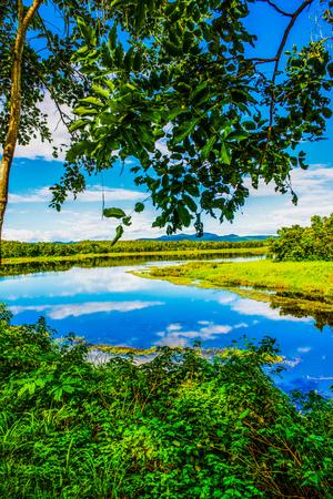 mirror: Landscape View of Mae Puem Reservoir, Thailand