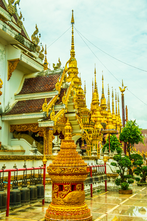 Ancient pagodas in Phra That Suthon Mongkhon Khiri temple, Thailand. Editorial