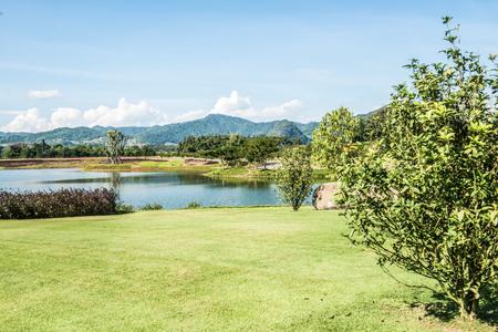 Beautiful park in Chiangrai province, Thailand. Stock Photo