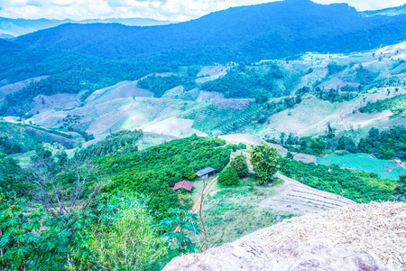 fa: Mountain view at Chiangrai province, Thailand. Stock Photo