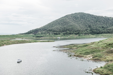 chiangmai province: Landscape view of Mae Kuang Udom Thara dam, Thailand. Editorial