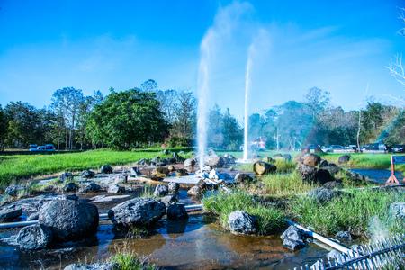 Sankamphaeng hot spring in Chiangmai province, Thailand.