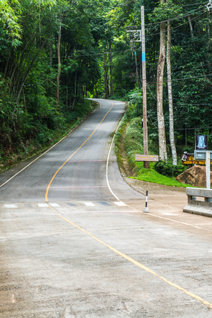 curve road: Small road on mountain, Thailand.