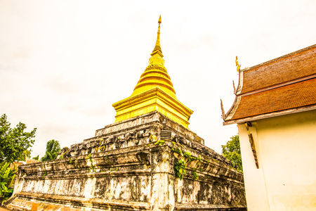 Old pagoda in Chang Kham temple, Thailand.