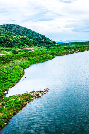 Landscape view of Mae Kuang Udom Thara dam, Thailand. Stock fotó