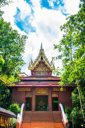 Church of The Emerald Buddha at Chiang Rai Province, Thailand. Stock Photo