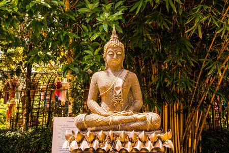 Buddha statue made from nut, Thailand.