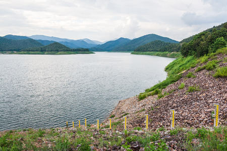 Landscape view of Mae Kuang Udom Thara dam, Thailand. Stock Photo