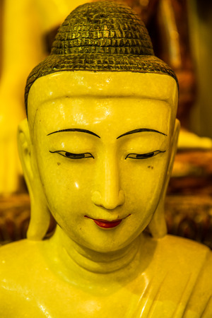 Ancient white buddha, Thailand.