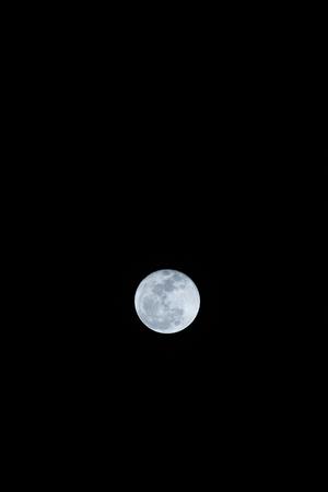 Super full moon in Thai, Thailand.