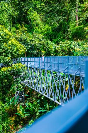 Canopy walkway in Chiangmai city, Thailand. Stock Photo