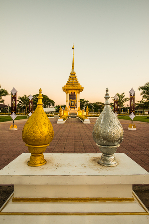 Royal Crematorium Replica at Phayao Province, Thailand. 写真素材