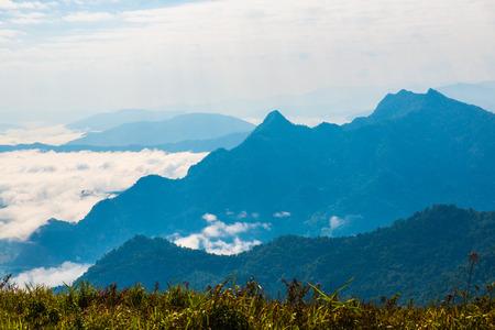 Fog Sea at Phu Chi Fa View Point in Chiangrai Province, Thailand.