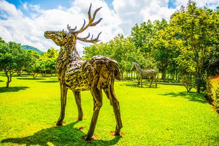 Cherntawan 국제 명상 센터, 태국에있는 공원. 스톡 콘텐츠