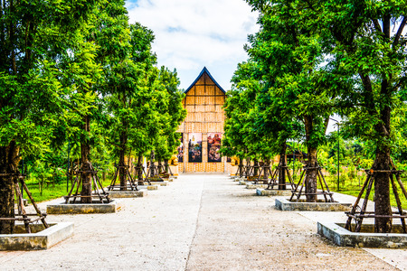 Meditation Hall in Cherntawan International Meditation Center, Thailand. Stock Photo
