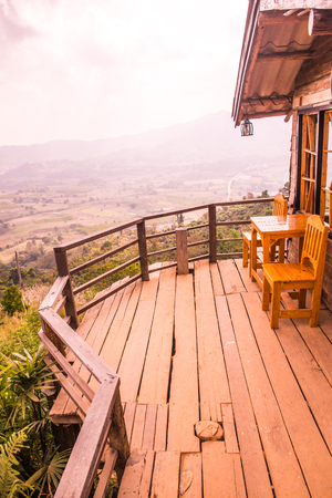 Beautiful View with Terrace at Phu Langka National Park, Thailand.