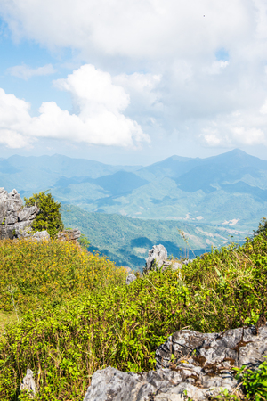 View Point at Doi Pha Tang in Chiangrai Province, Thailand.