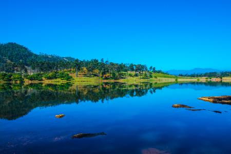 Lake view in Chiangmai province, Thailand. Standard-Bild