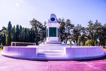 Memorial Sacrifice at Phayao Province,Thailand.
